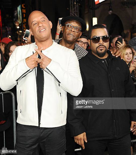 Actors Vin Diesel Samuel L Jackson and Ice Cube attend the premiere of 'xXx Return of Xander Cage' at TCL Chinese Theatre IMAX on January 19 2017 in...