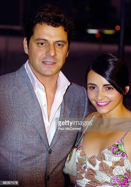 Actors Vince Colosimo and Pia Miranda arrive at the 2005 Lexus Inside Film Awards at Luna Park on November 23 2005 in Sydney Australia