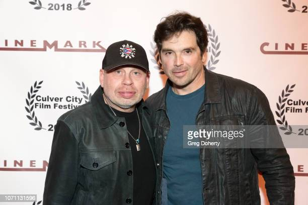 Actors Vince Lozano and Jason Gedrick attend a screening of Acts Of Desperation At Culver City Film Festival Starring Paul Sorvino Kira Reed Lorsch...