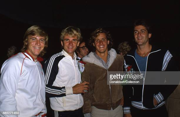 Actors Vince Van Patten and his brothers attend the Hollywood Christmas Parade in December 1980 in Los Angeles California
