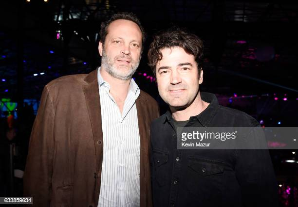 Actors Vince Vaughn and Ron Livingston attend the 2017 DIRECTV NOW Super Saturday Night Concert at Club Nomadic on February 4 2017 in Houston Texas
