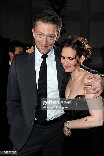 Actors Vincent Cassel and Winona Ryder arrive at the 'Black Swan' closing night gala during AFI FEST 2010 presented by Audi held at Grauman's Chinese...
