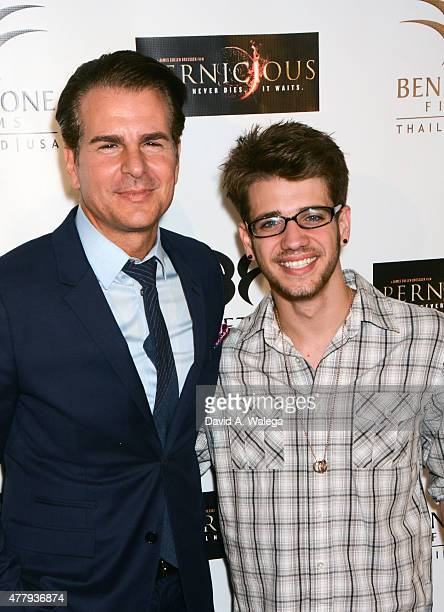 Actors Vincent De Paul and Brandon Tyler Russell attend the 'Pernicious' premiere at Arena Cinema Hollywood on June 19 2015 in Hollywood California