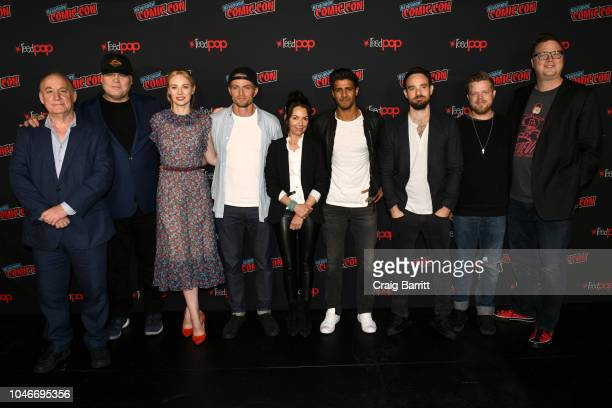 Actors Vincent D'Onofrio, Deborah Ann Woll, Wilson Bethel, Joanne Whalley, Jay Ali, Charlie Cox and Elden Henson attend Marvel's DAREDEVIL panel...