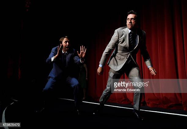 Actors Vincent Kartheiser and Jon Hamm attend the Film Independent at LACMA special screening of the final episode of 'Mad Men' at The Ace Hotel...