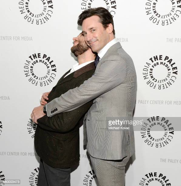 Actors Vincent Kartheiser and Jon Hamm attend The Paley Center For Media's PaleyFest 2014 Honoring Mad Men on March 21 2014 in Los Angeles California