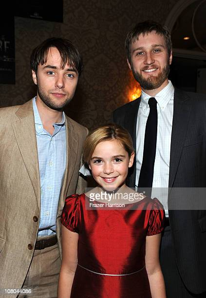 Actors Vincent Kartheiser Kiernan Shipka and Aaron Staton attend the Eleventh Annual AFI Awards reception at the Four Seasons Hotel on January 14...