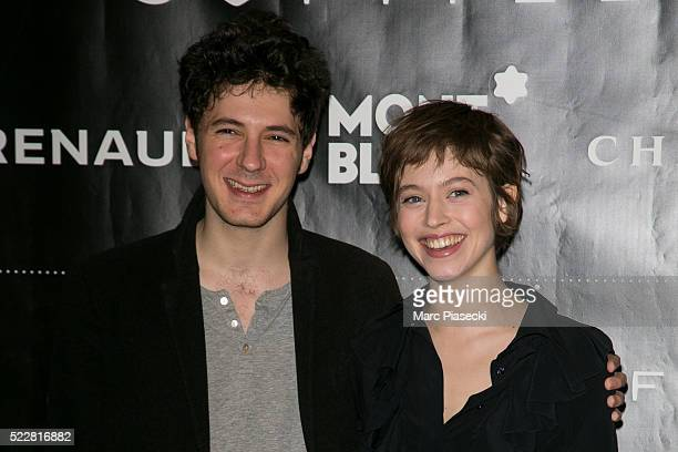 Actors Vincent Lacoste and Lou de Laage attend the 'Romy Schneider Patrick Dewaere Award' nominees press conference at Hotel Scribe on April 21 2016...