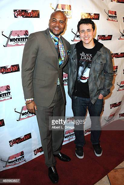 Actors Vincent M Ward and Noah Dahl attend the ShockFest Film Festival Awards held at Raleigh Studios on January 11 2014 in Los Angeles California