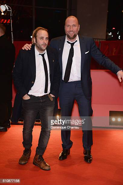 Actors Vincent Macaigne and Francois Damiens attend the 'News from Planet Mars' premiere during the 66th Berlinale International Film Festival Berlin...