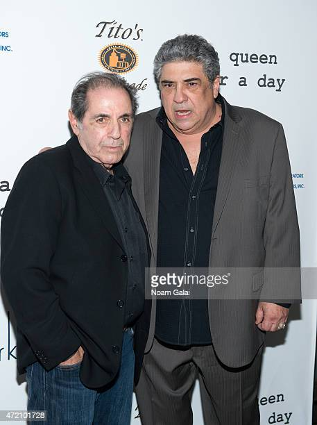 Actors Vincent Pastore and David Proval attend the after party for the 'A Queen For A Day' opening night at The Skylark on May 3 2015 in New York City