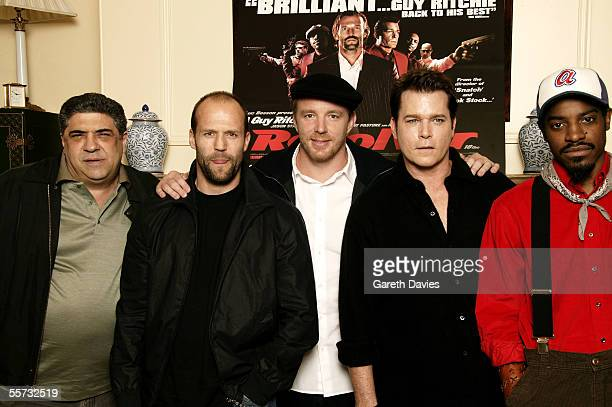 Actors Vincent Pastore and Jason Statham, director Guy Ritchie, actors Ray Liotta and Andre 'Andre 3000' Benjamin attend the Press Conference for...