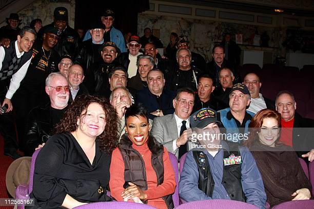 Actors Vincent Pastore Tony Darrow Brenda Braxton Dominic Chianese Michelle DeJean Frank Pellegrino Aida Turturro and Vince Curatola with members of...