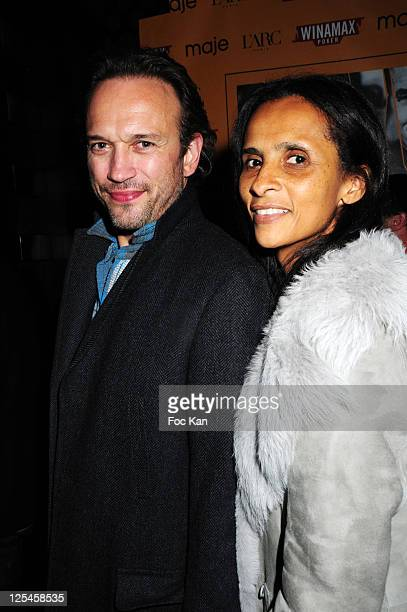 Actors Vincent Perez and Karine Silla attend 'Les Petits Mouchoirs' Premiere After Party at L'Arc Club on October 14 2010 in Paris France
