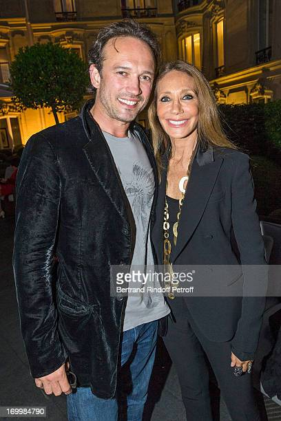 Actors Vincent Perez and Marisa Berenson attend a cocktail party at Hotel Fouquet's Barriere following the premiere of the film 'Les Petits Princes'...