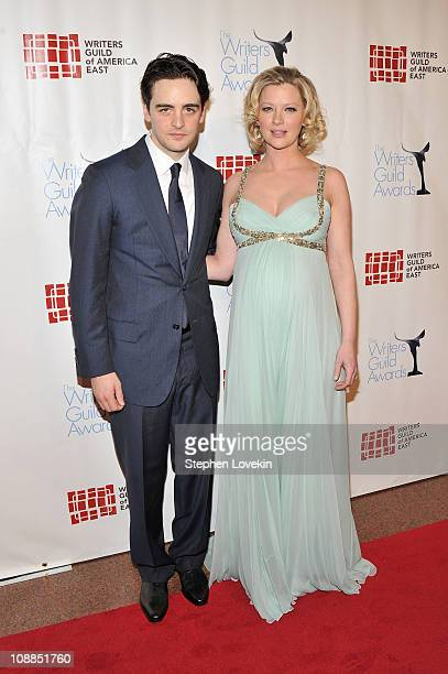 Actors Vincent Piazza and Gretchen Mol attend the 63rd annual Writers Guild Awards at the AXA Equitable Center on February 5 2011 in New York United...