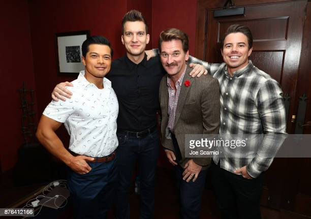 Actors Vincent Rodriguez III Scott Michael Foster Peter Gardner and David Hull attend the 'Crazy ExGirlfriend 100th Song Celebration SingaLong' event...