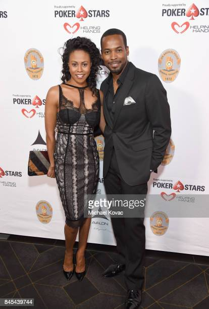 Actors Vinessa Antoine and Anthony Montgomery at the Heroes for Heroes Los Angeles Police Memorial Foundation Celebrity Poker Tournament at Avalon on...