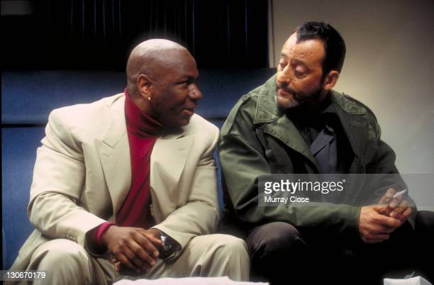 Actors Ving Rhames and Jean Reno on the set of the film 'Mission Impossible' 1996