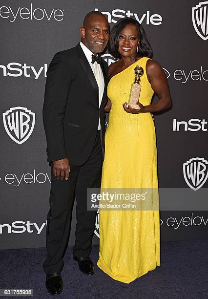 Actors Viola Davis and Julius Tennon arrive at the 18th Annual PostGolden Globes Party hosted by Warner Bros Pictures and InStyle at The Beverly...