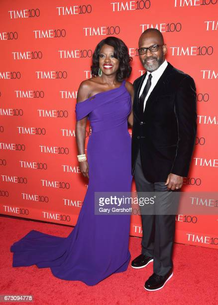 Actors Viola Davis and Julius Tennon attend the Time 100 Gala at Frederick P Rose Hall Jazz at Lincoln Center on April 25 2017 in New York City