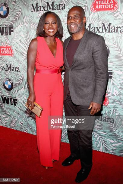 Actors Viola Davis wearing Max Mara and Julius Tennon attend the tenth annual Women in Film PreOscar Cocktail Party presented by Max Mara and BMW at...