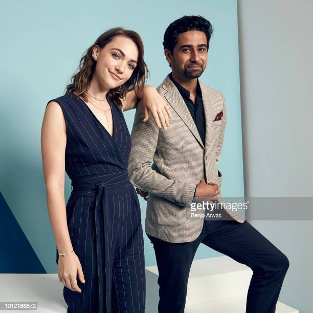 Actors Violett Beane and Suraj Sharma of CBS's 'God Friended Me' pose for a portrait during the 2018 Summer Television Critics Association Press Tour...