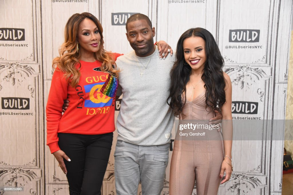 Actors Viveca A. Fox, Hassan Johnson and Joy Rovaris visit the Build Series to discuss the film 'Bobbi Kristina' at Build Studio on September 29, 2017 in New York City.