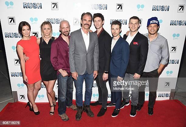 Actors Vlada Verevko Aqueela Zoll Ian Griffin Steve Ogg Mark Leslie Ford Jeff Schine Lou Ferrigno Jr and Stephen Chang attend the Los Angeles...