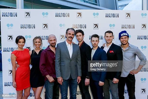 Actors Vlada Verevko Aqueela Zoll Ian Griffin Steven Ogg Mark Leslie Ford Jeff Schine Lou Ferrigno Jr and Stephen Chang arrive for the Premiere Of...