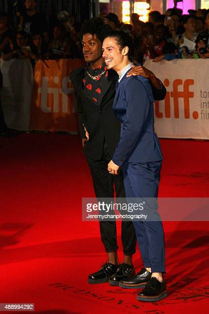 Actors Vladimir Alexis and Jonny Beauchamp attend the Stonewall premiere during the 2015 Toronto International Film Festival held at Roy Thomson Hall...