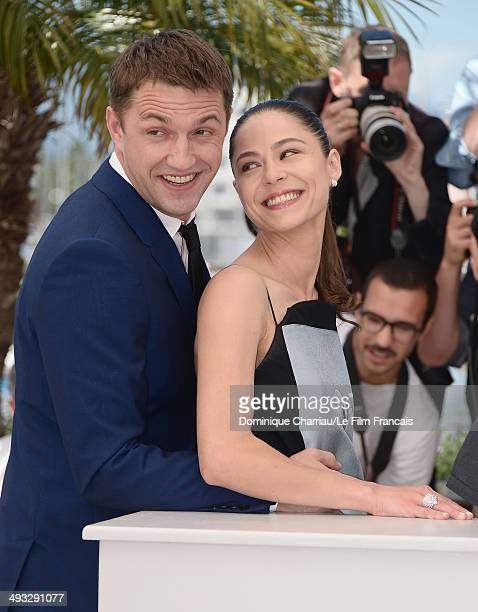 Actors Vladimir Vdovichenkov and Yelena Lyadova attend the 'Leviathan' photocall at the 67th Annual Cannes Film Festival on May 23 2014 in Cannes...