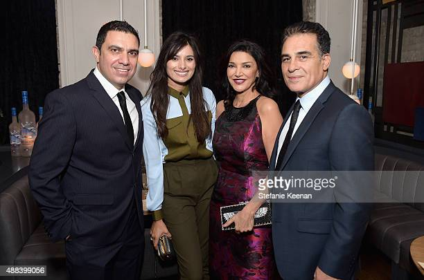 Actors Wadih Dona Gabriella Wright Shohreh Aghdashloo and Houshang Touzie attend the Septembers of Shiraz TIFF Party Hosted By GREY GOOSE Vodka at...
