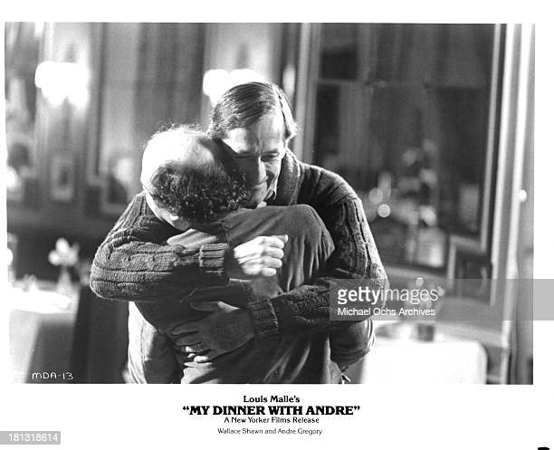 Wallace shawn pictures and photos getty images actors wallace shawn and andre gregory on the set of the movie my dinner with altavistaventures Images
