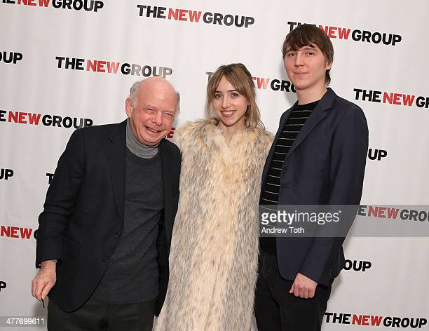 Actors Wallace Shawn Zoe Kazan and Paul Dano attend the 2014 Bright Lights OffBroadway Gala at Tribeca Rooftop on March 10 2014 in New York City