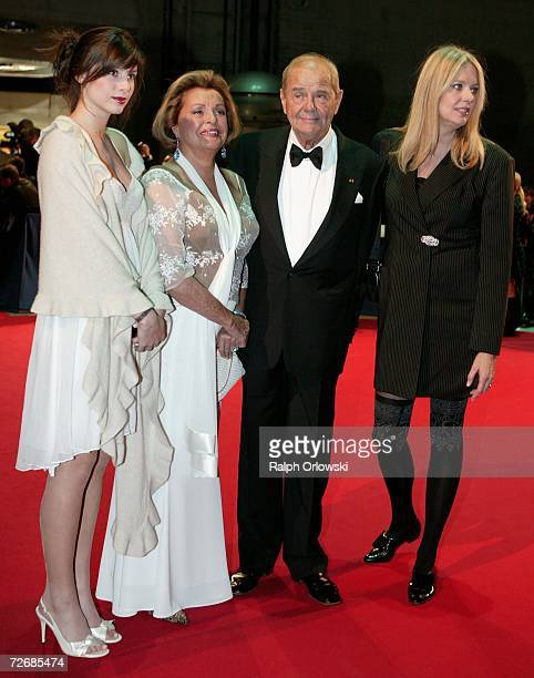 Actors Walter Giller and Nadja Tiller and their daughters Natascha and Alexia attend the 58th annual Bambi Awards at the Merceds-Benz Museum on...
