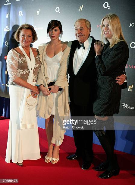 Actors Walter Giller and Nadja Tiller and their daughters Natascha and Alexia attend the 58th annual Bambi Awards at the MercedsBenz Museum on...