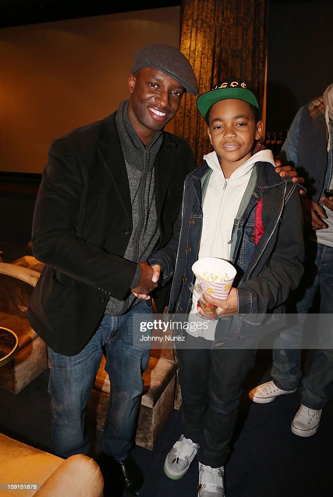 Actors Walter Simpson III and Michael Rainey Jr. attend the 'LUV' Tastemaker Screening at Soho House on January 8, 2013 in New York City.