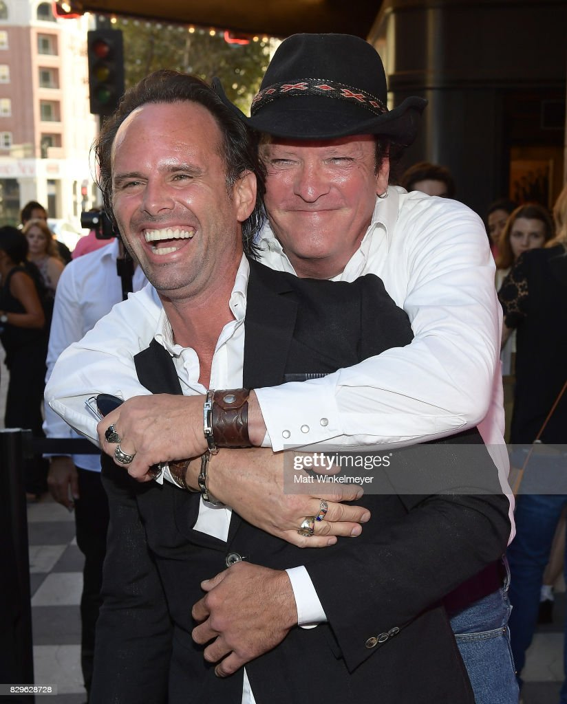 Actors Walton Goggins and Michael Madsen attend Sundance NEXT FEST After Dark at The Theater at The Ace Hotel on August 10, 2017 in Los Angeles, California.