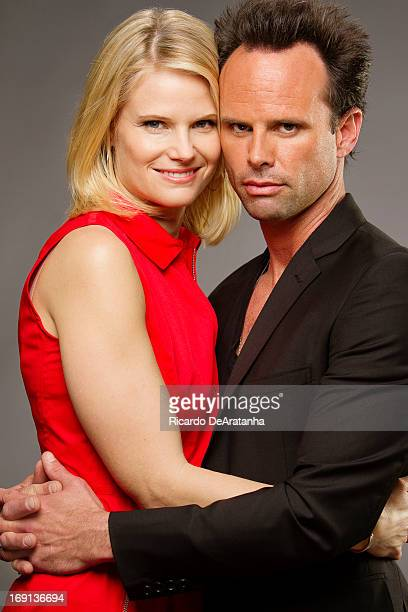Actors Walton Goggins Joelle Carter are photographed for Los Angeles Times on April 20 2013 in Los Angeles California PUBLISHED IMAGE CREDIT MUST...