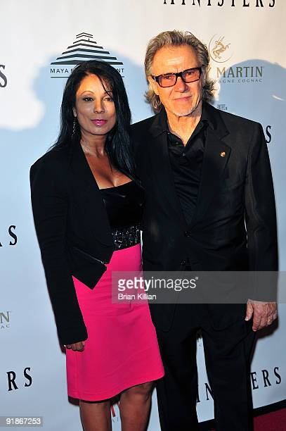 Actors Wanda De Jesus and Harvey Keitel attend the premiere of The Ministers at Loews Lincoln Square on October 13 2009 in New York City