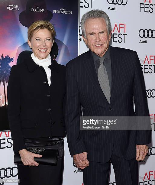Actors Warren Beatty and Annette Bening arrive at AFI FEST 2016 Presented by Audi - Opening Night - Premiere of 20th Century Fox's 'Rules Don't...