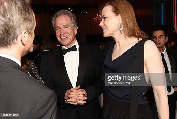 Actors Warren Beatty and Nicole Kidman attend the 16th annual Critics' Choice Movie Awards at the Hollywood Palladium on January 14 2011 in Los...
