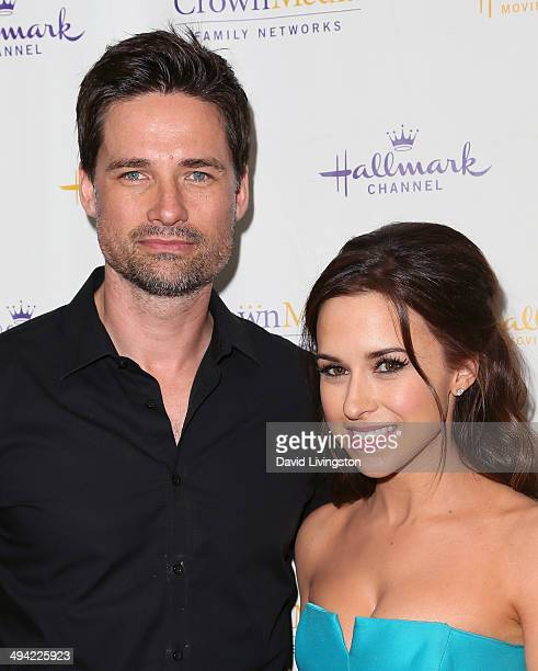 Actors Warren Christie and Lacey Chabert attend The Color of Rain premiere screening presented by the Hallmark Movie Channel at The Paley Center for...