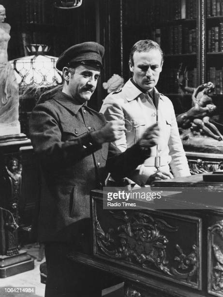 Actors Warren Mitchell and Edward Woodward in a scene from the television drama 'Prisoners', January 5th 1971.
