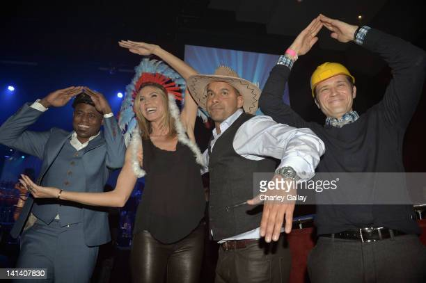 Actors Wayne Brady Heidi Klum Jon Huertas and Seamus Dever attend UNICEF Playlist With The AList at El Rey Theatre on March 15 2012 in Los Angeles...