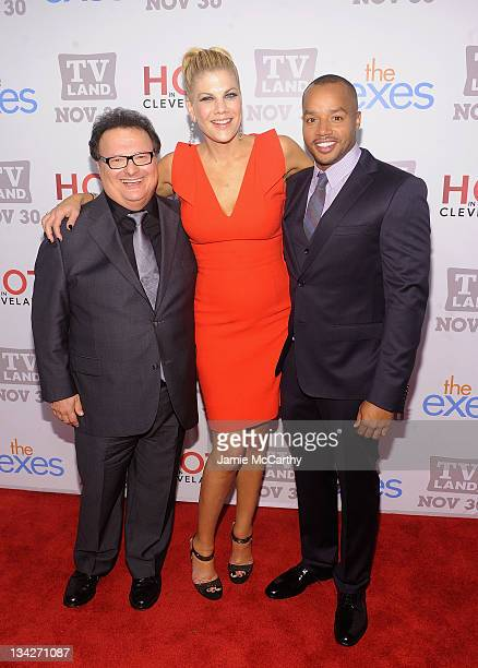 """Actors Wayne Knight, Kristen Johnston and Donald Faison attend the TV Land holiday premiere party for """"Hot in Cleveland"""" & """"The Exes"""" at SD26 on..."""