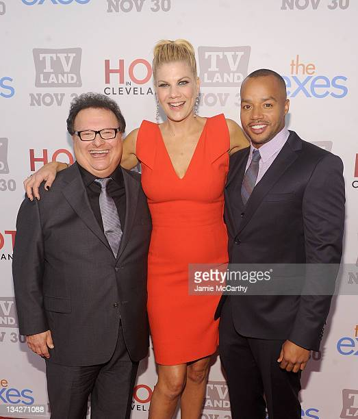 Actors Wayne Knight Kristen Johnston and Donald Faison attend the TV Land holiday premiere party for Hot in Cleveland The Exes at SD26 on November 29...