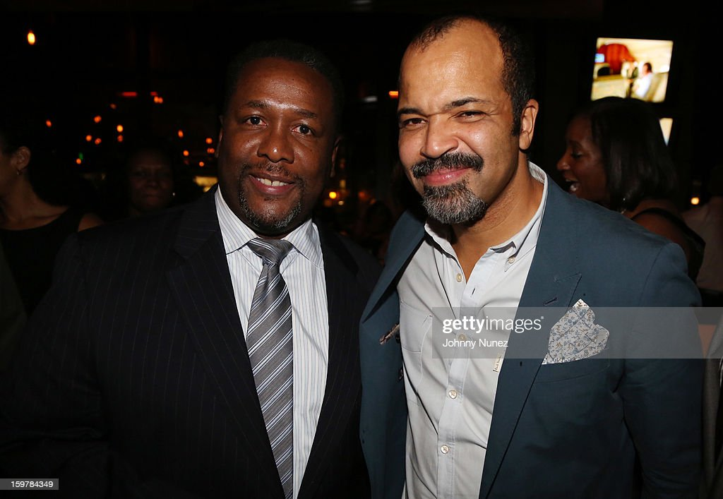 Actors Wendell Pierce and Jeffrey Wright attend the After@inauguration Celebration on January 19, 2013 in Washington, United States.