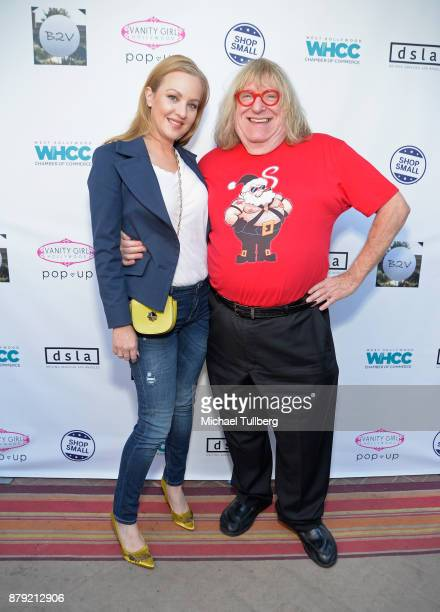 "Actors Wendi McLendon-Covey and Bruce Vilanch attend a Small Business Saturday ""Stars Shop Small for WeHo"" event at B2V Salon on November 25, 2017 in..."